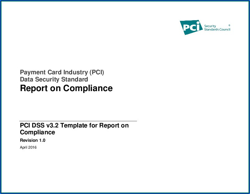 Pci Dss Roc Template