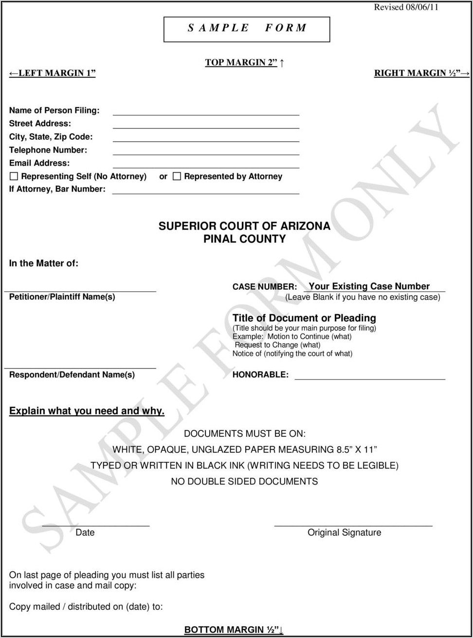 Pinal County Civil Court Forms