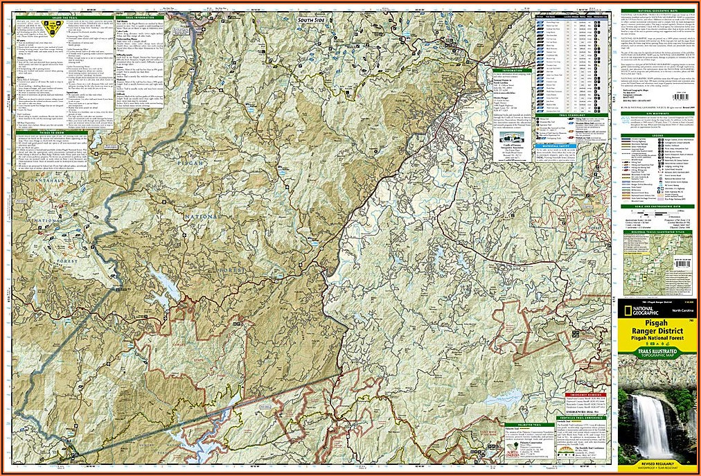 Pisgah National Forest Hiking Trails Map