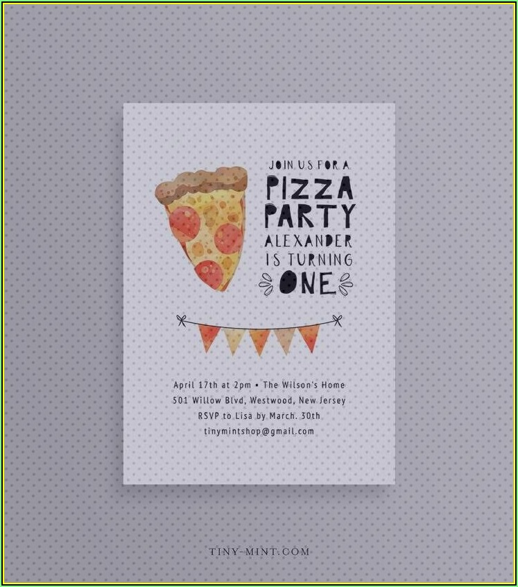 Pizza Making Party Invitation Template