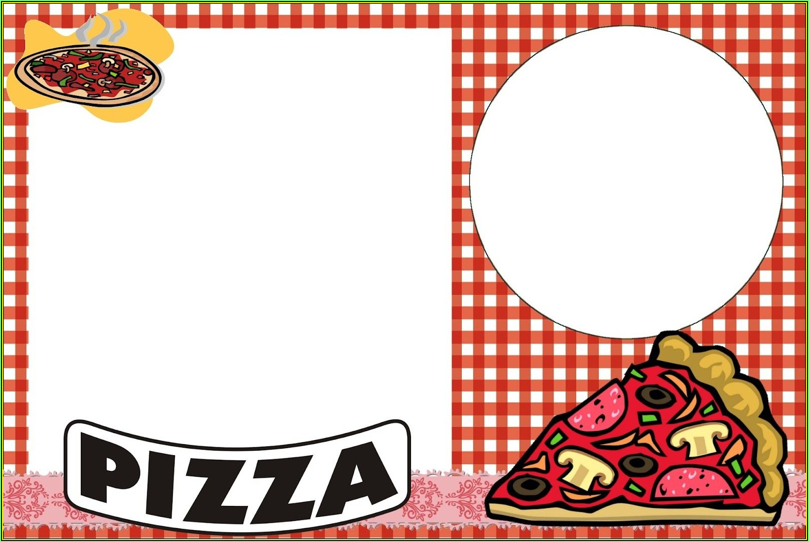 Pizza Party Invite Template Free