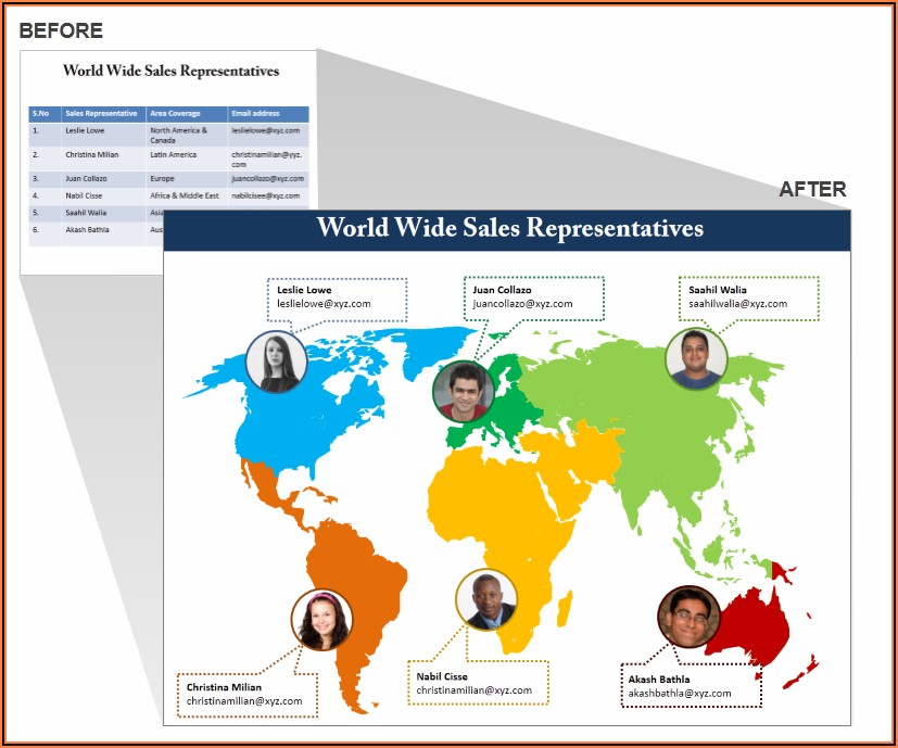 Powerpoint Editable World Map Free Download