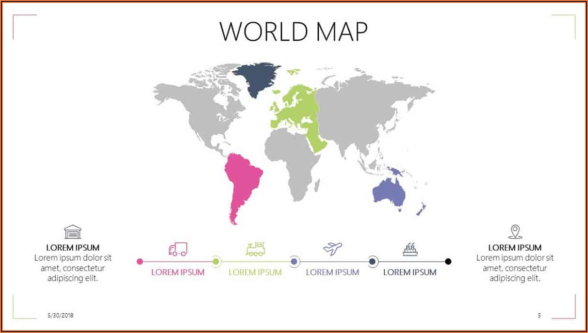 Powerpoint World Map Editable