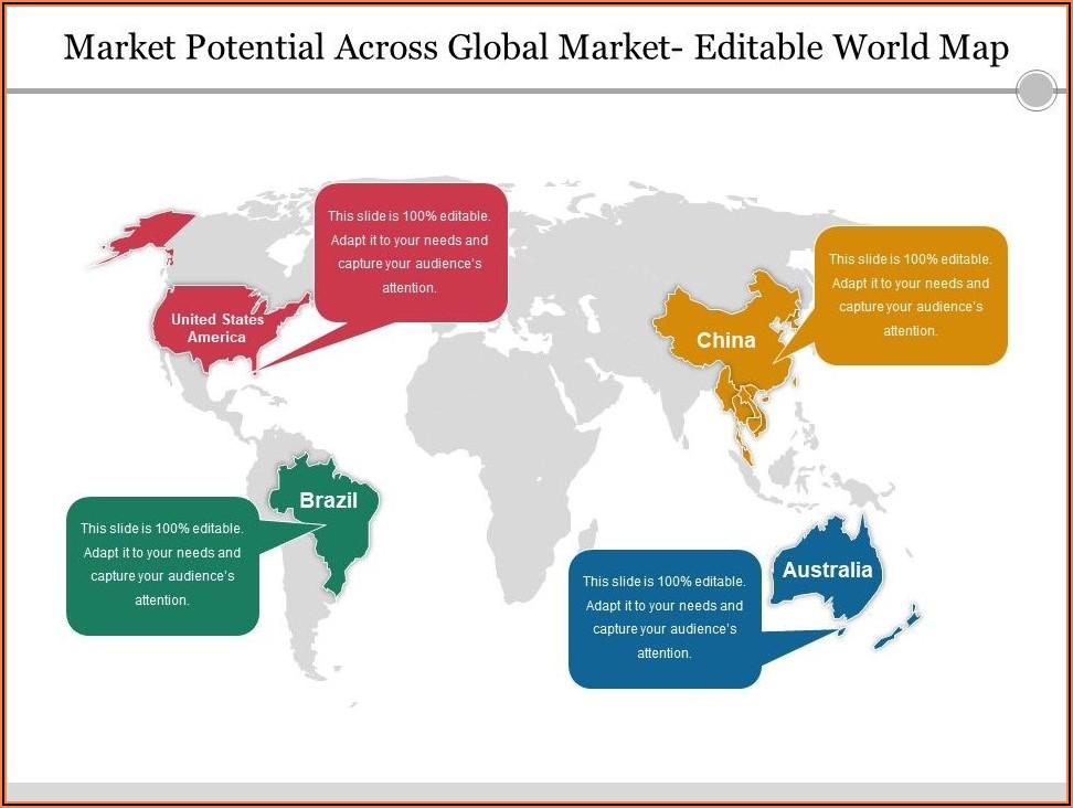 Ppt World Map Editable