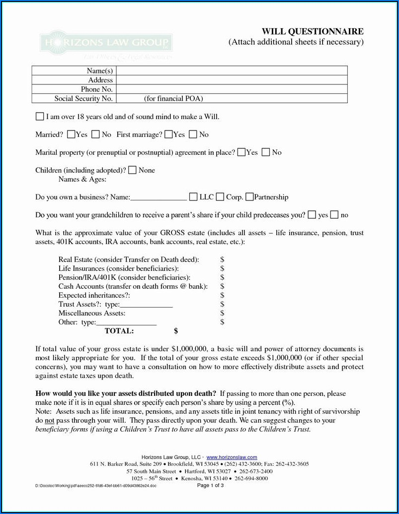Prenup Contract Template
