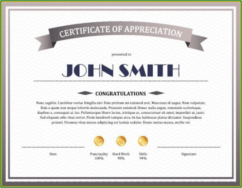 Printable Certificates Of Appreciation Templates