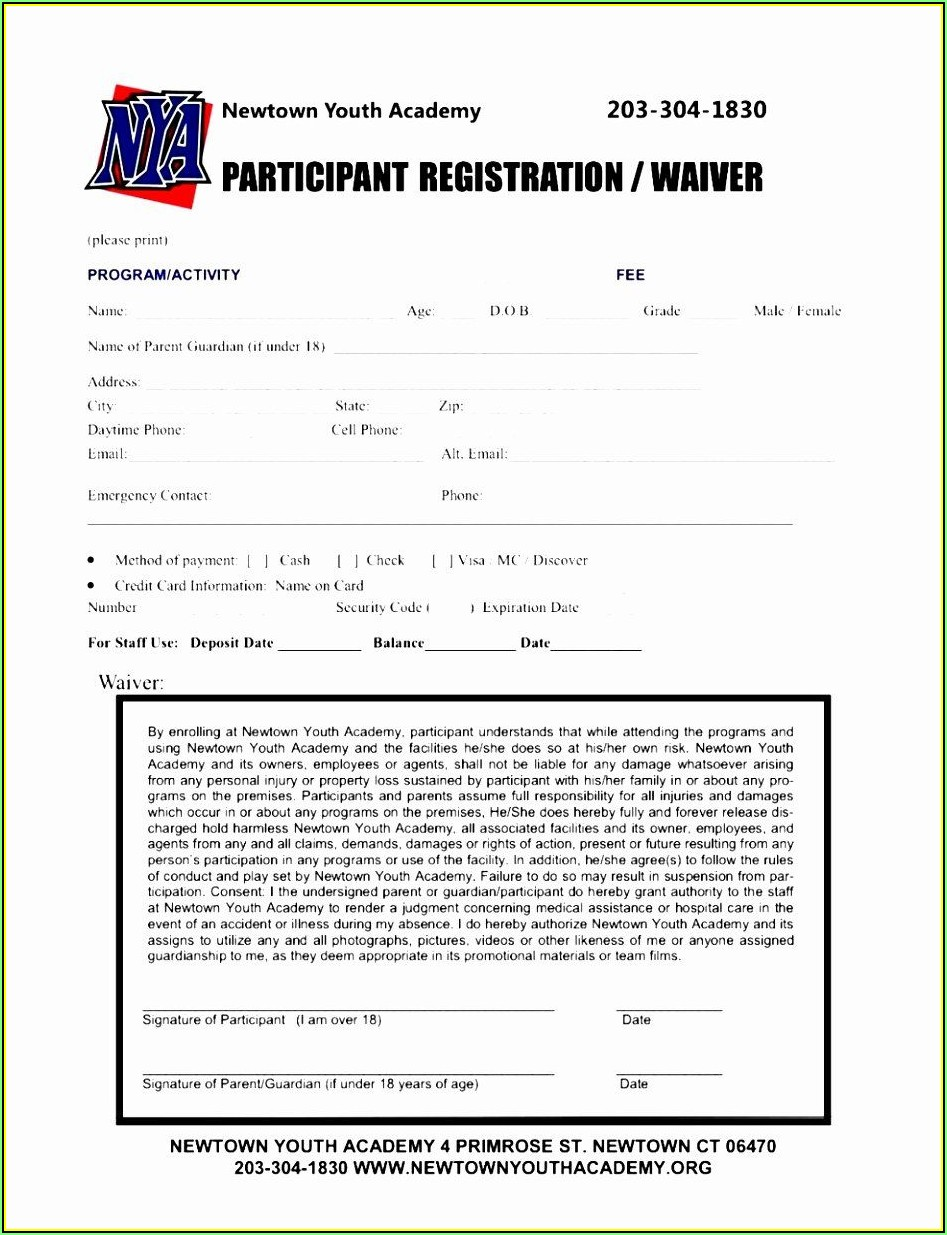 Printable Event Registration Form Template Word
