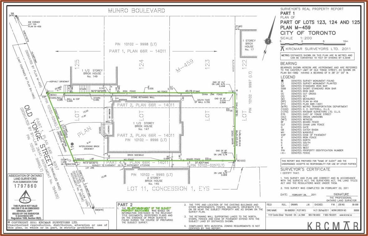 Property Line Survey Map