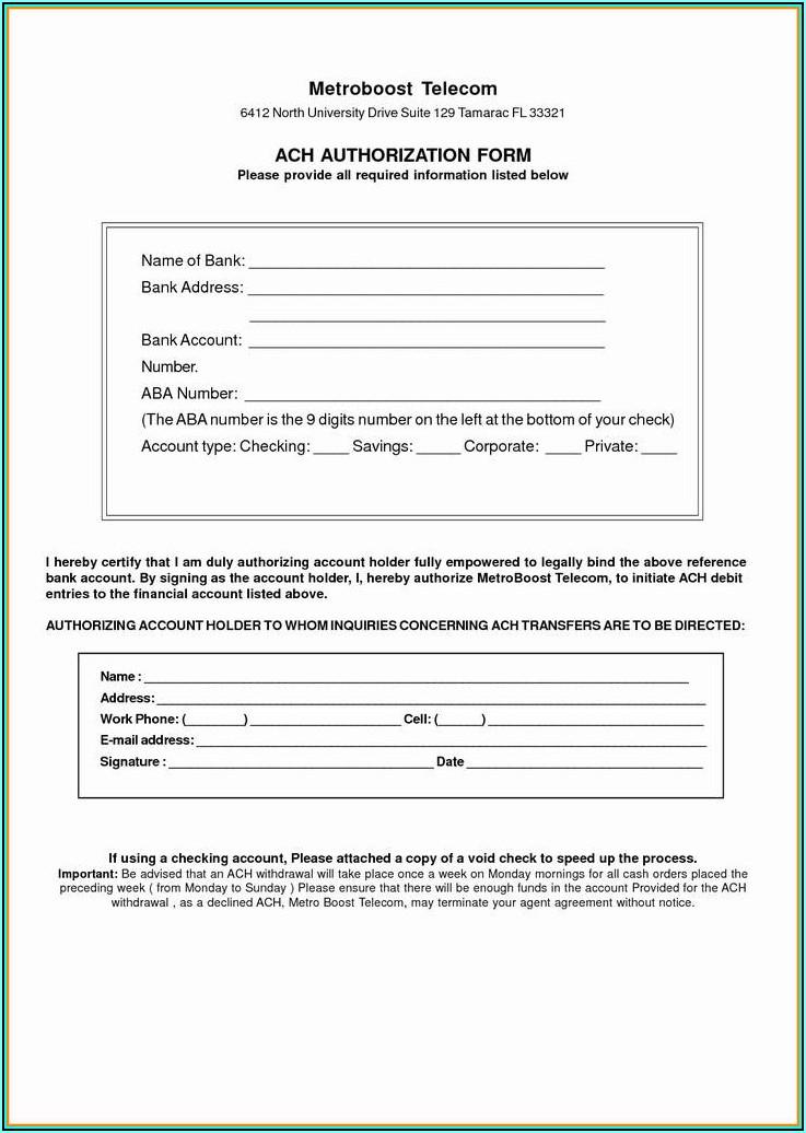 Quickbooks Direct Deposit Form For Vendors
