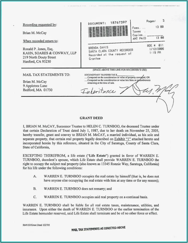Quit Claim Deed Form California Pdf