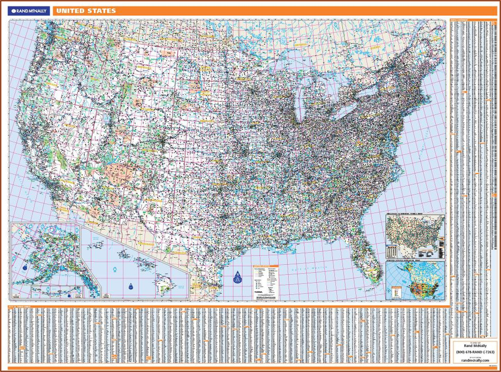 Rand Mcnally Map Of Eastern United States