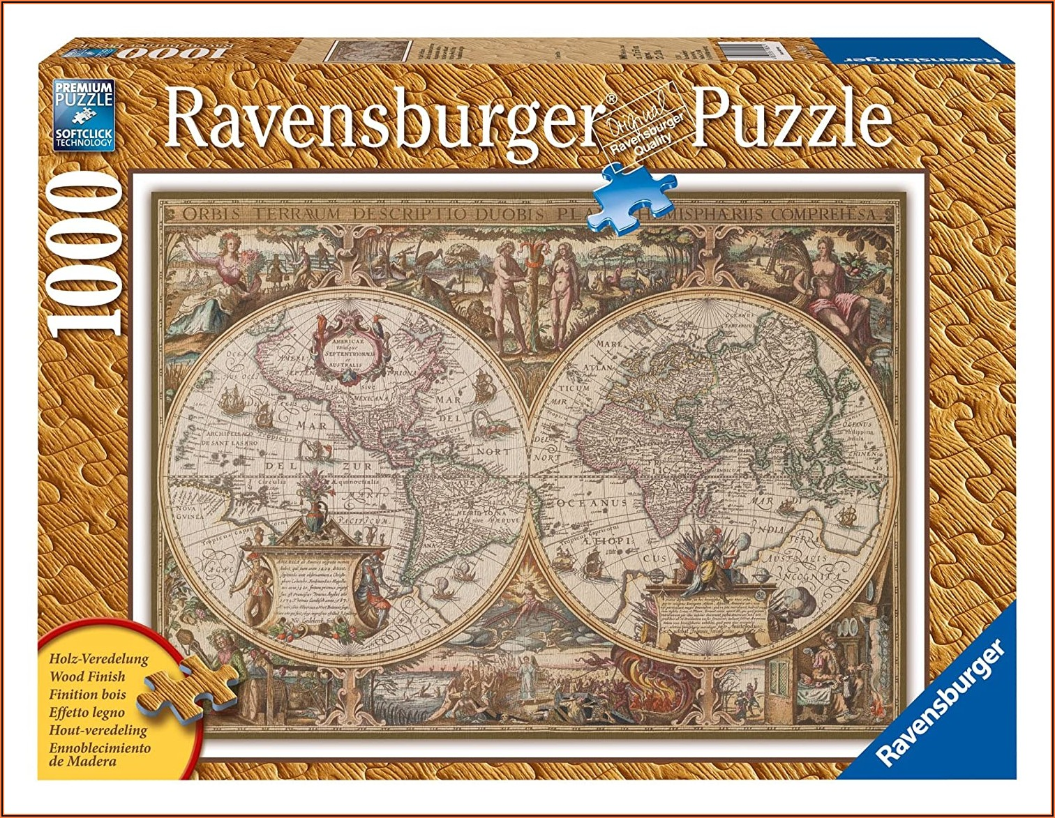 Ravensburger Antique World Map Puzzle