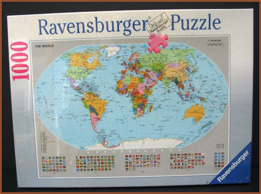 Ravensburger World Map Puzzle 1000