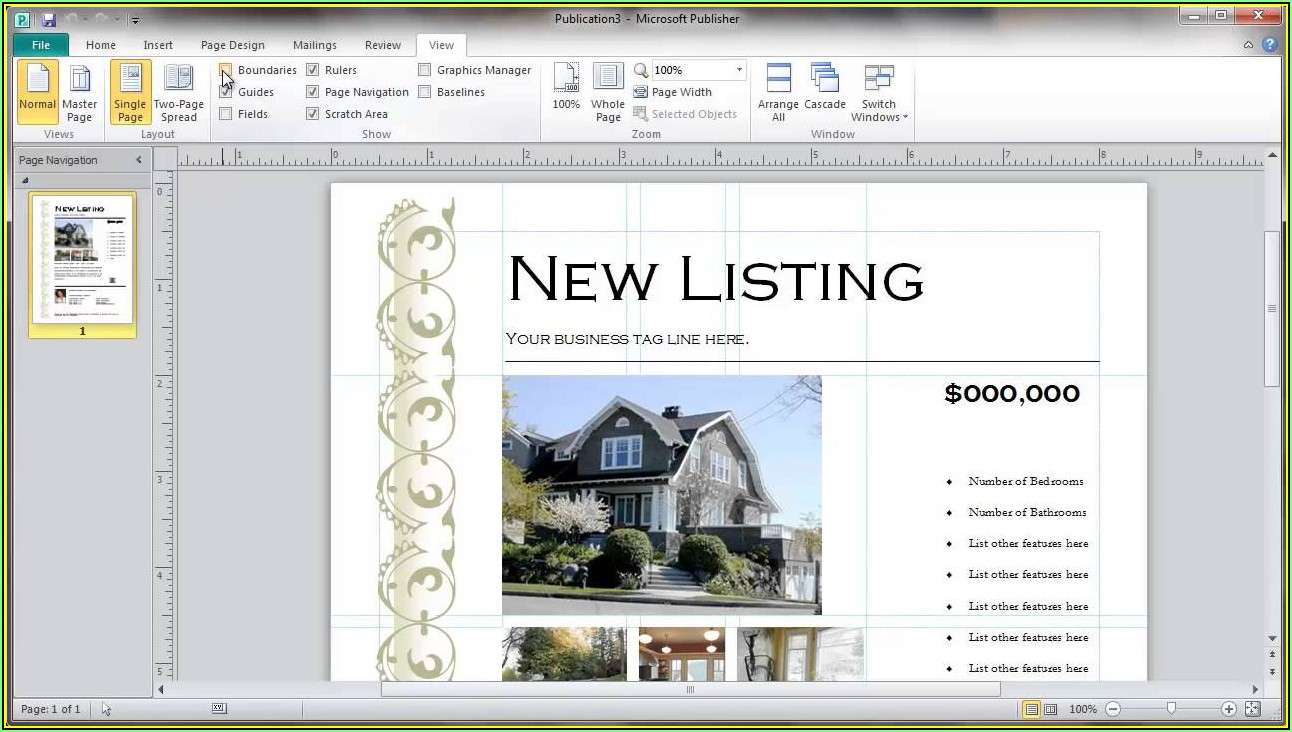 Real Estate Flyer Template Microsoft Publisher