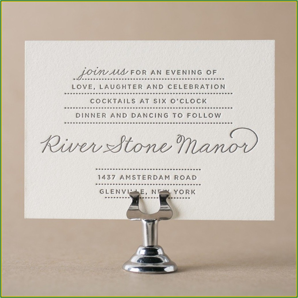 Reception Card Template Free