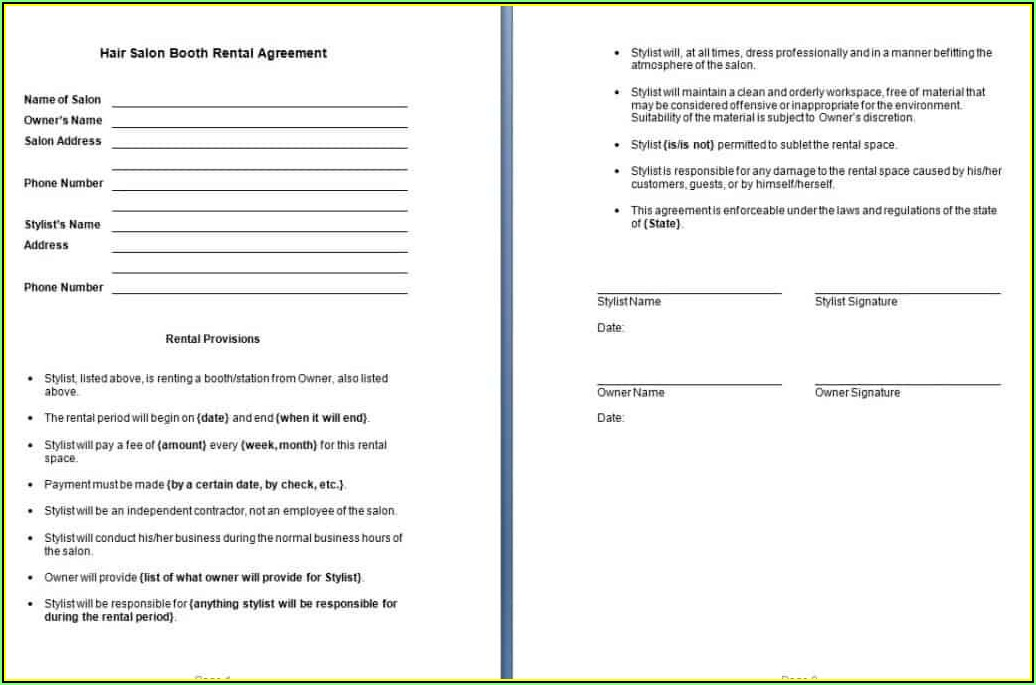 Rental Agreements Examples
