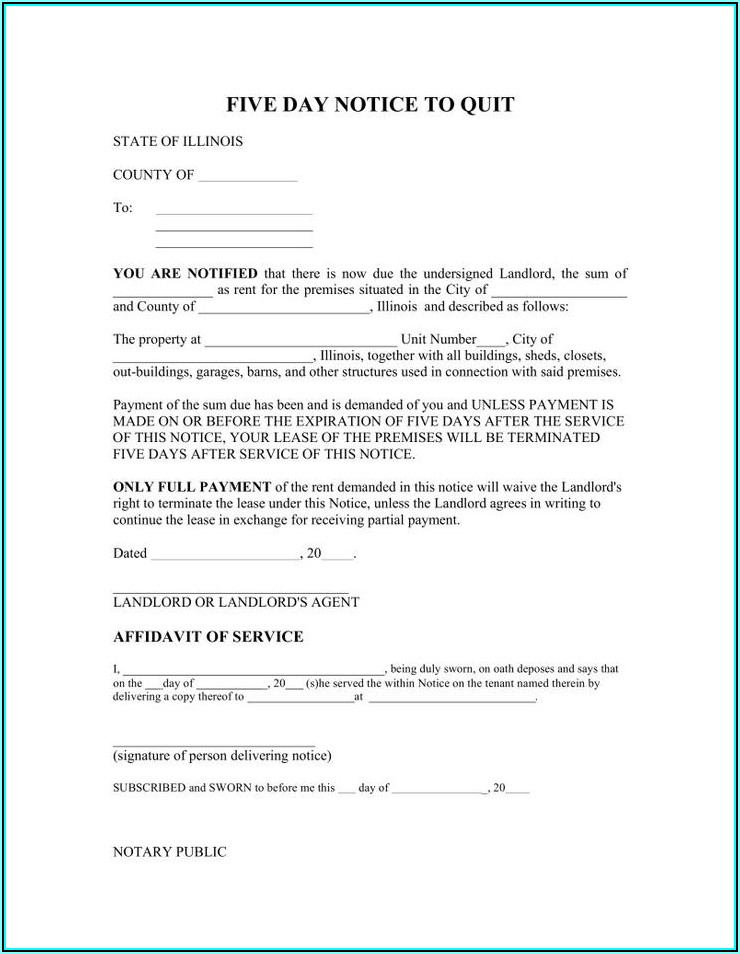 Rental Eviction Notice Example
