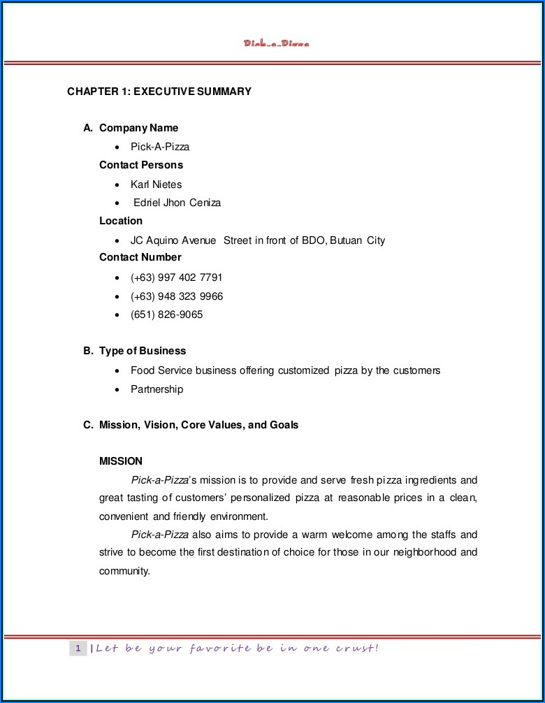 Restaurant Franchise Operations Manual Template