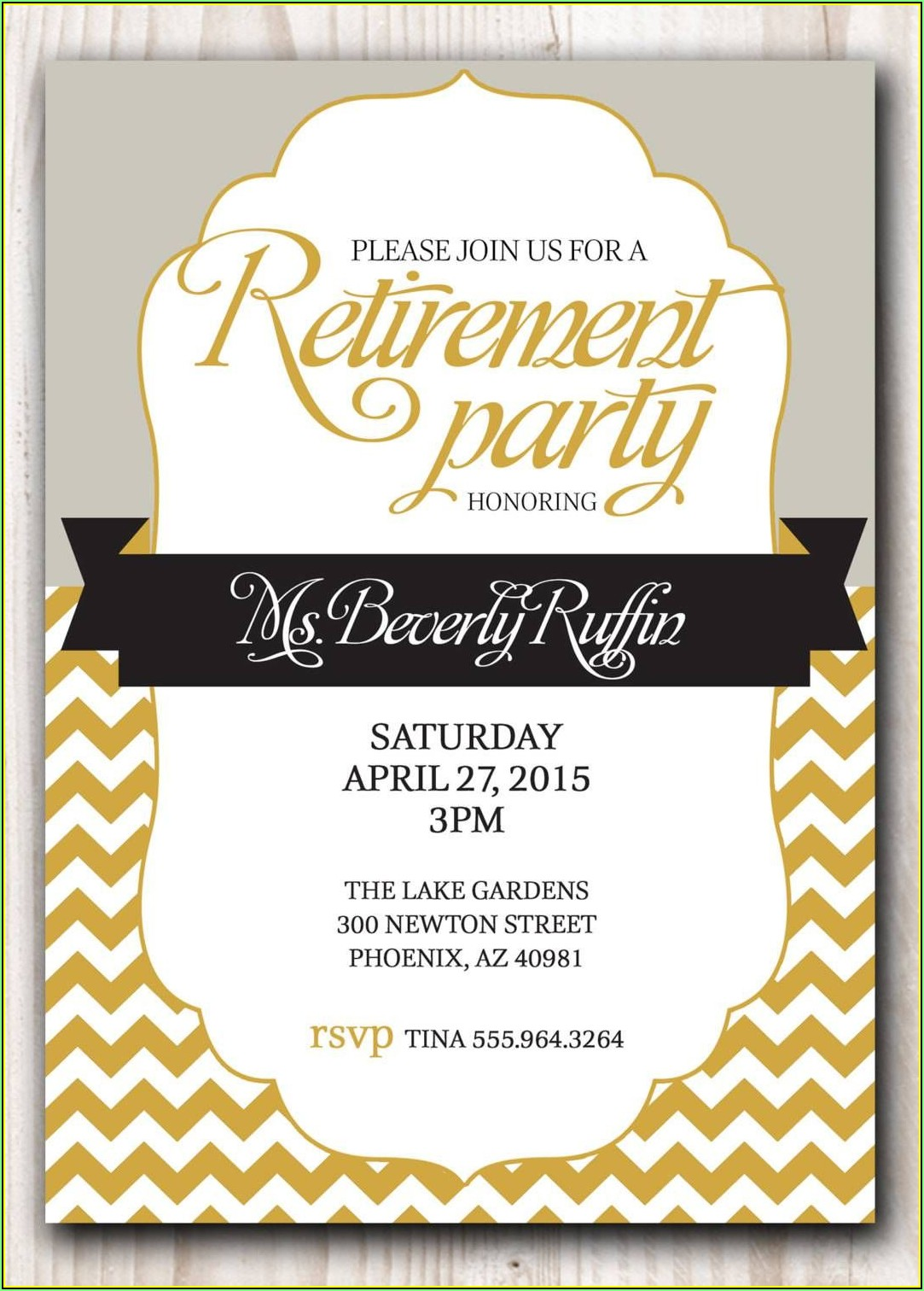 Retirement Invitation Templates Free