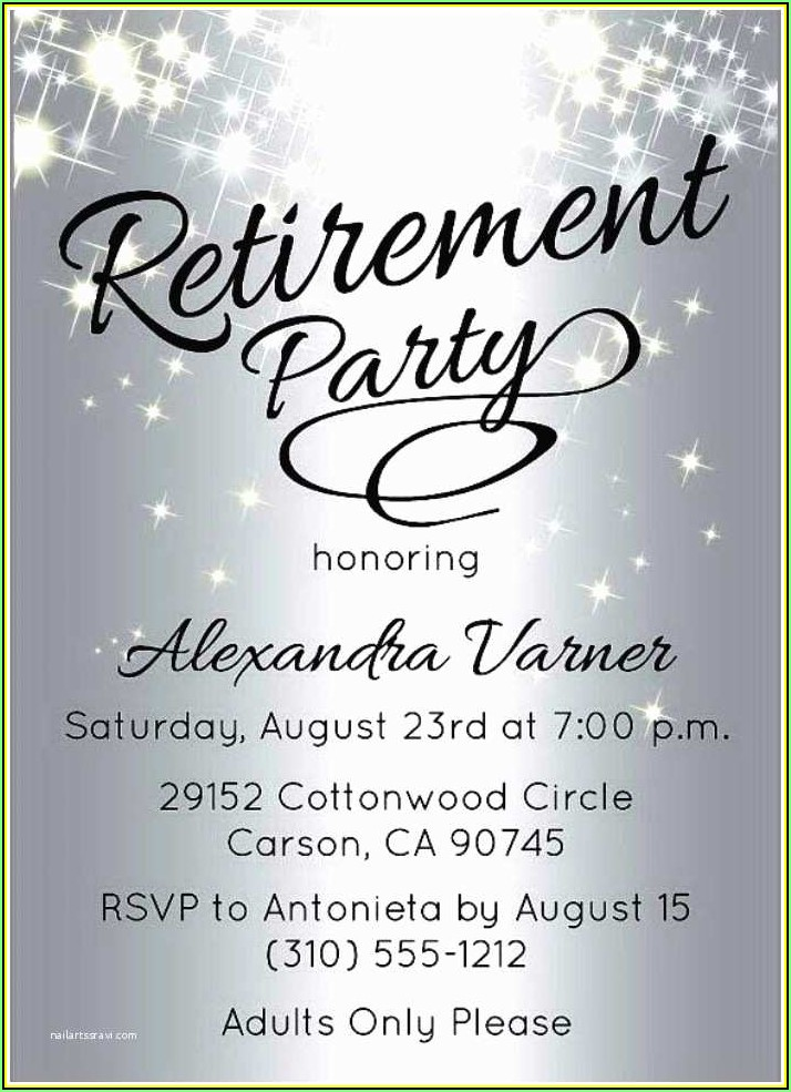 Retirement Party Invitation Template Free Download