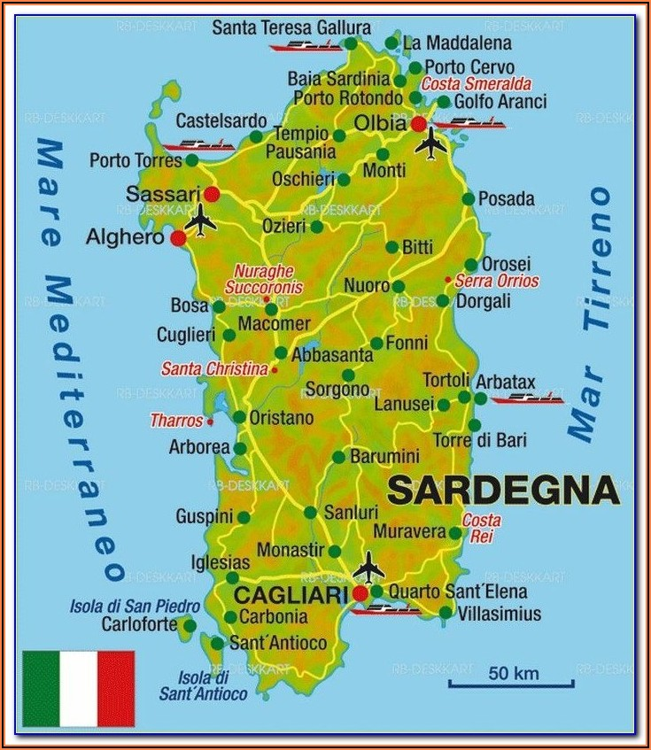 Road Map Of Sardinia Pdf