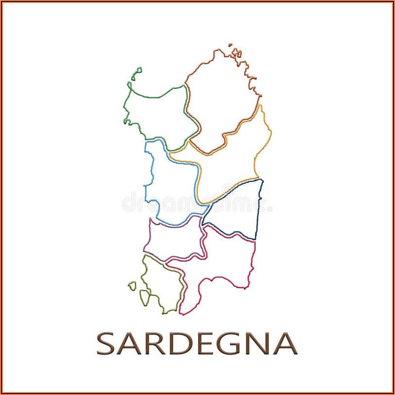 Road Map Of Sardinia