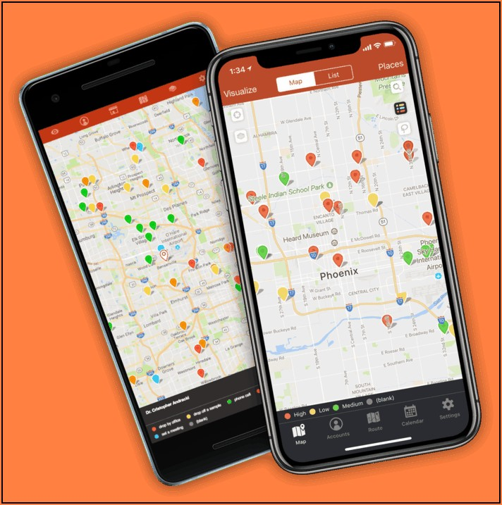 Sales Route Mapping App