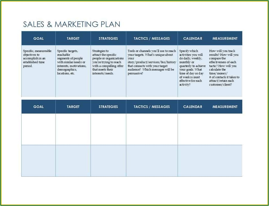 Sales Strategy Plan Template Word