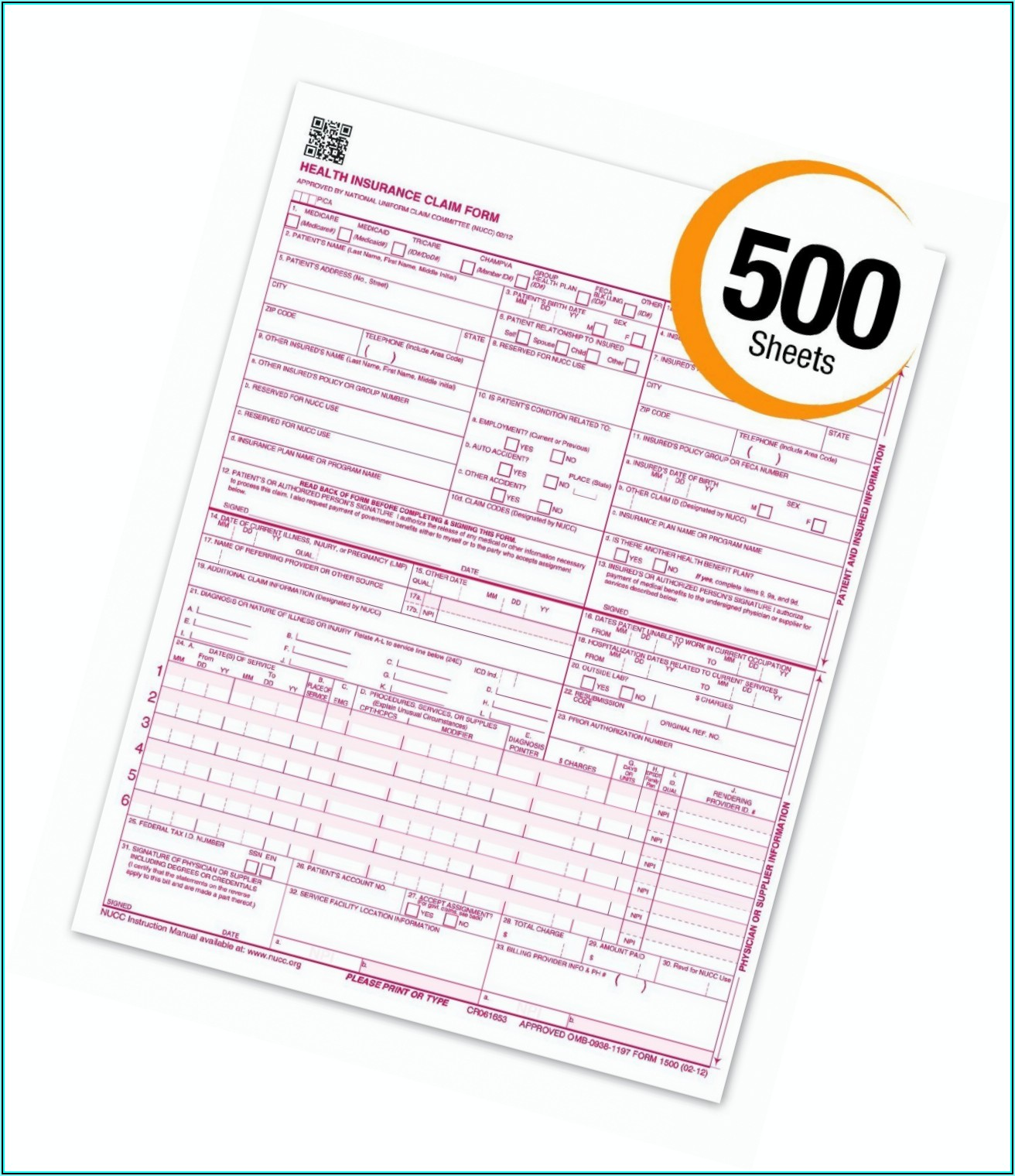 Sample Cms 1500 Form Pdf