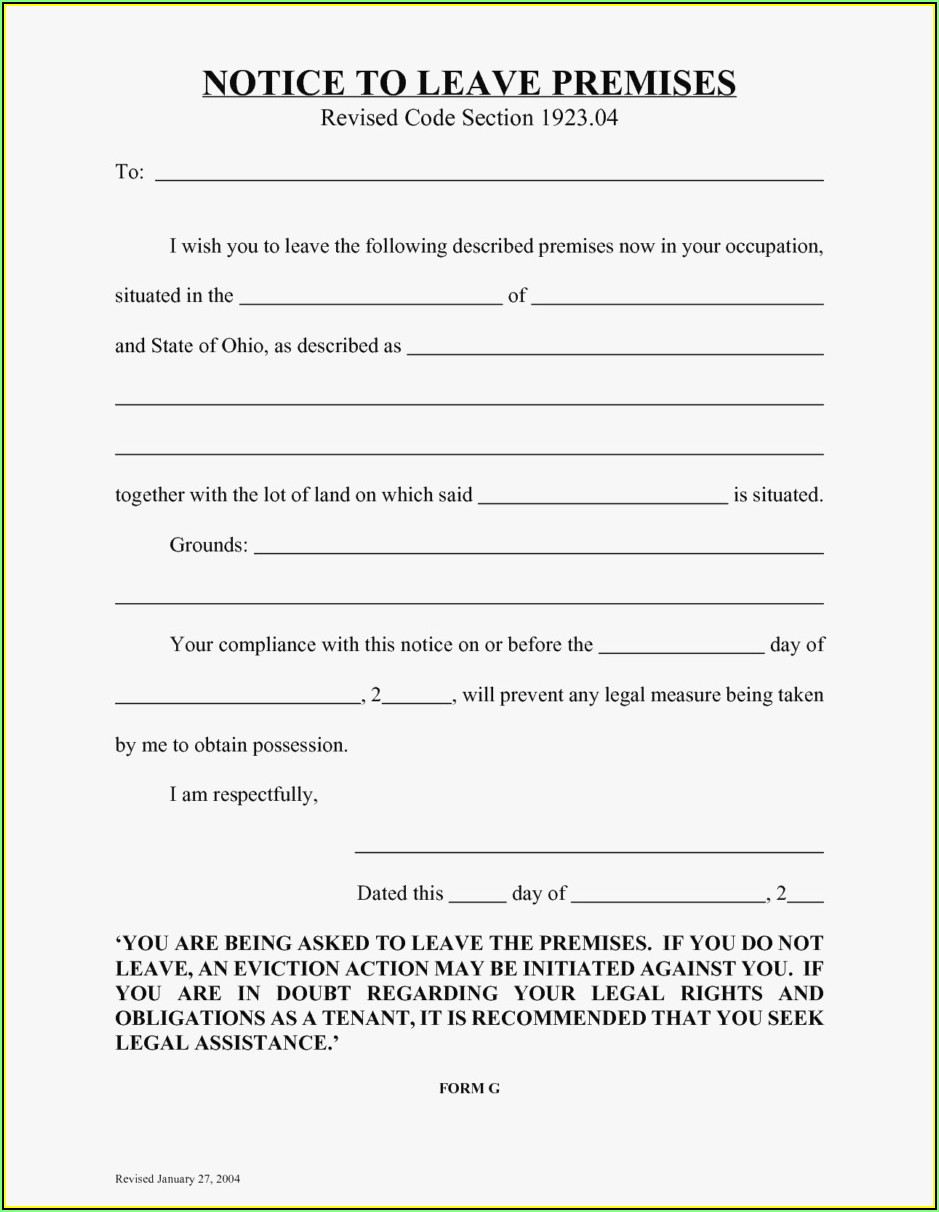Sample Eviction Templates