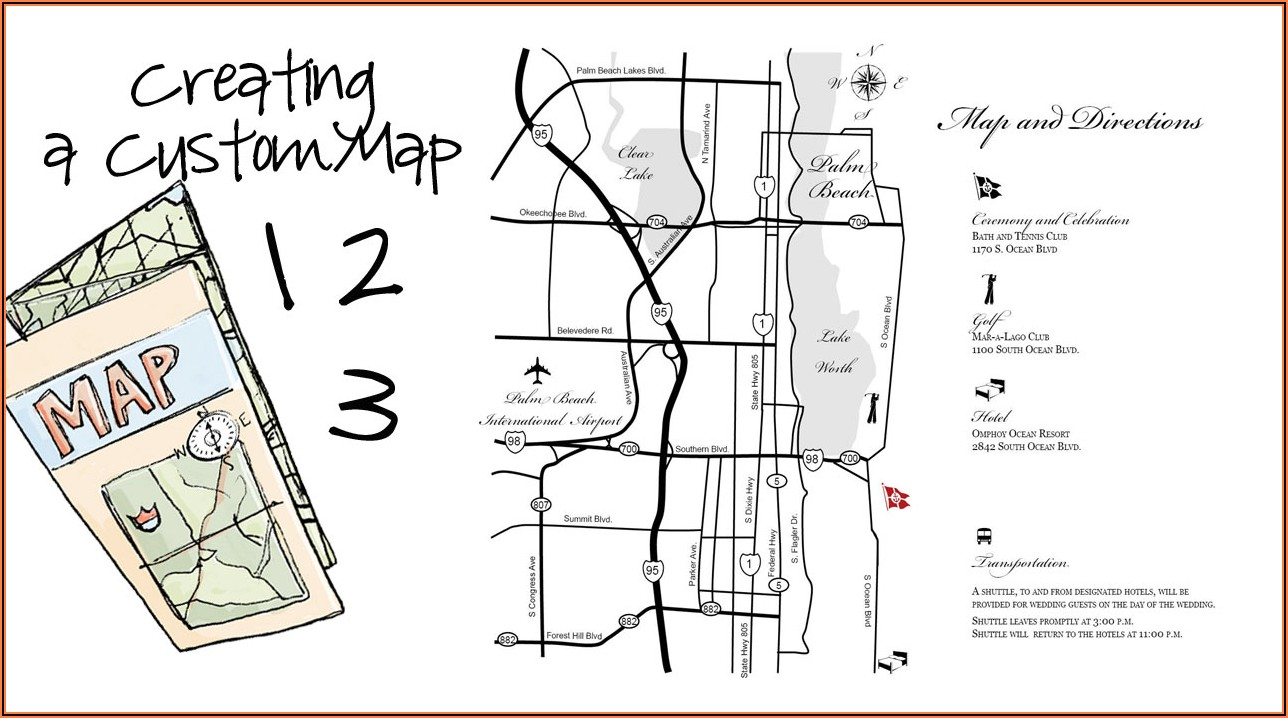 Sample Map For Wedding Invitation
