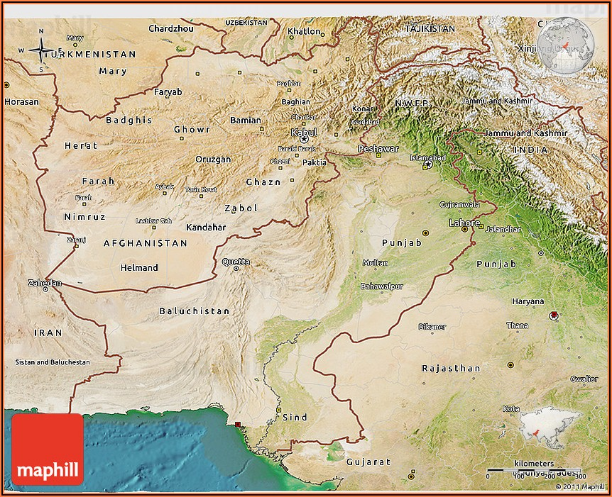 Satellite Map Of Pakistan Live Online