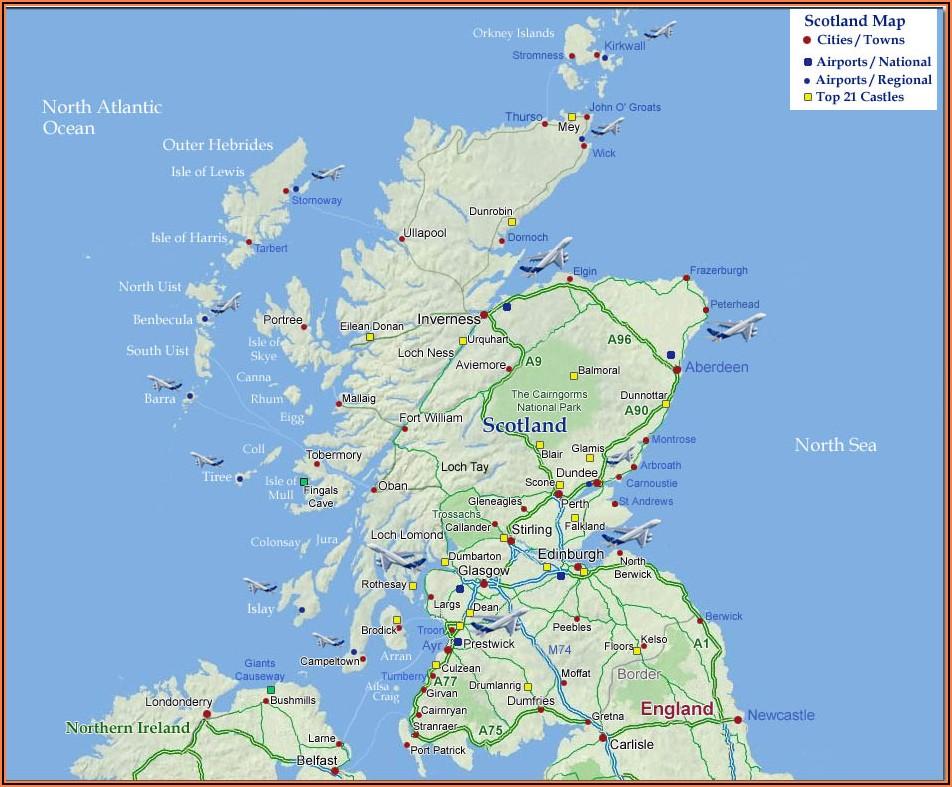 Scotland Castles Map