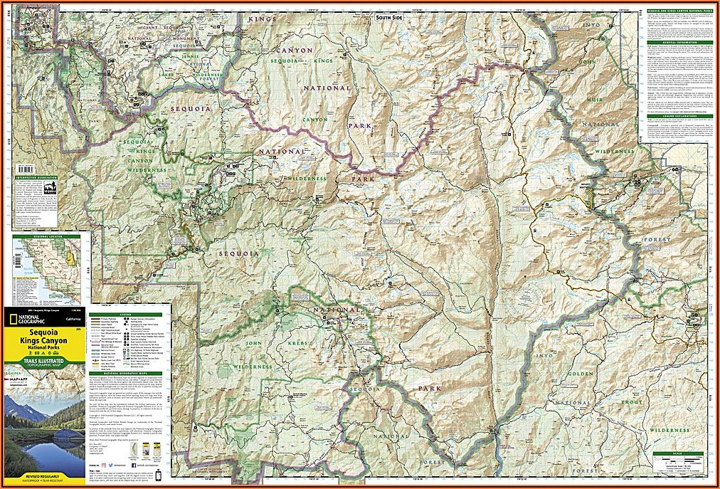 Sequoia National Park Backpacking Map