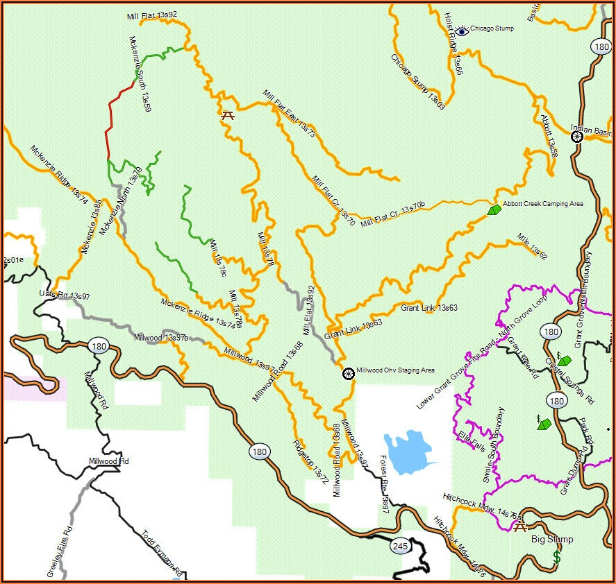 Sequoia National Park Ohv Trail Map