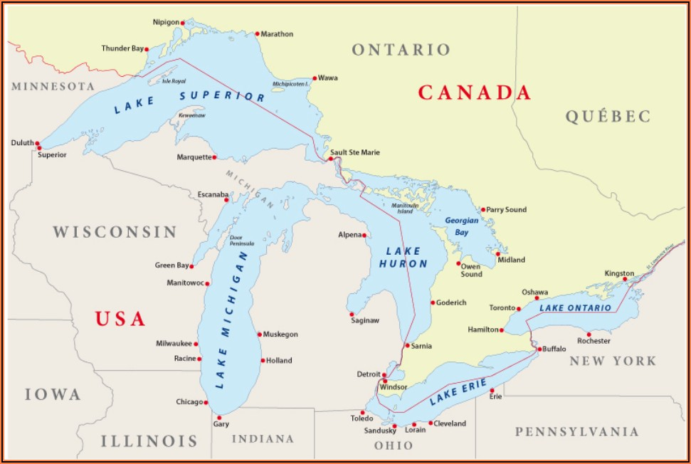 Show Me A Map Of Great Lakes Illinois