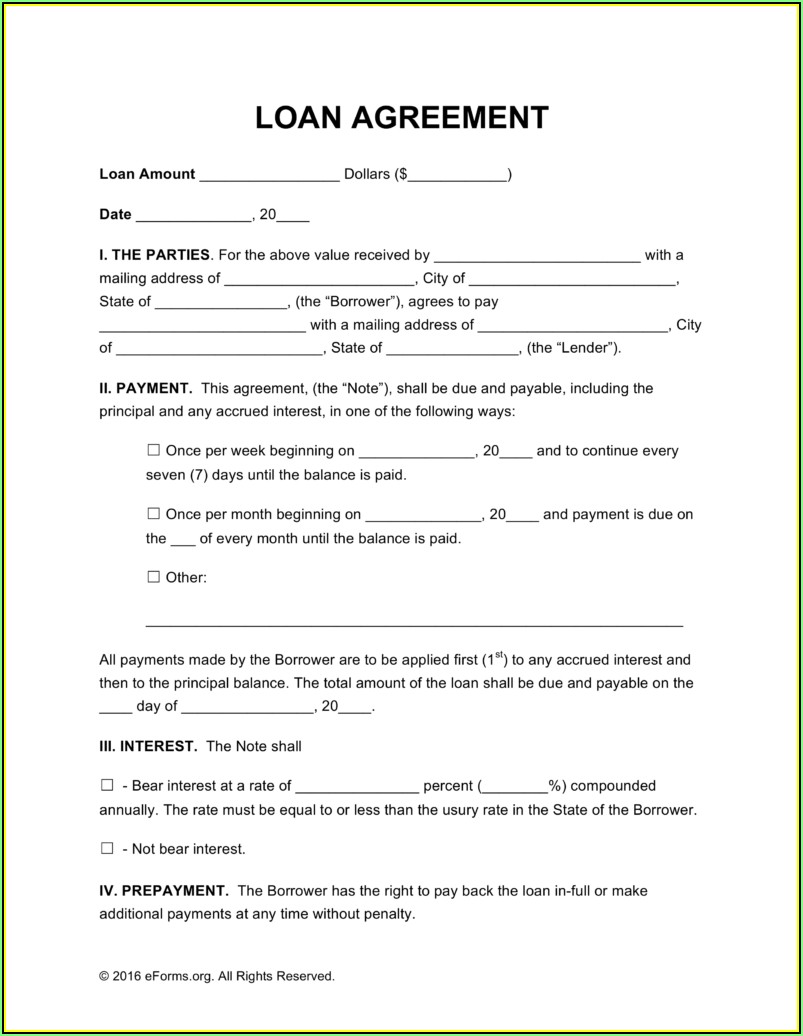 Simple Loan Agreement Template Australia