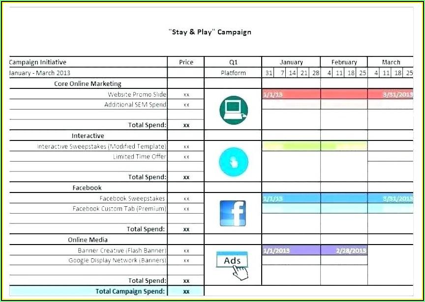 Social Media Content Calendar Template Google Docs