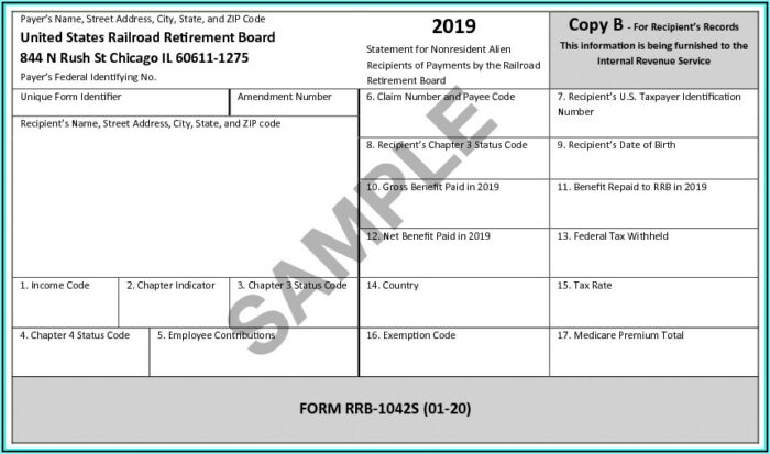 Social Security 1099 Form For Taxes
