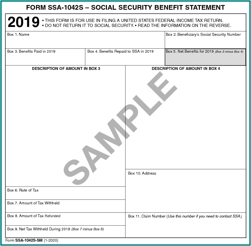 Social Security 1099 Forms For 2018