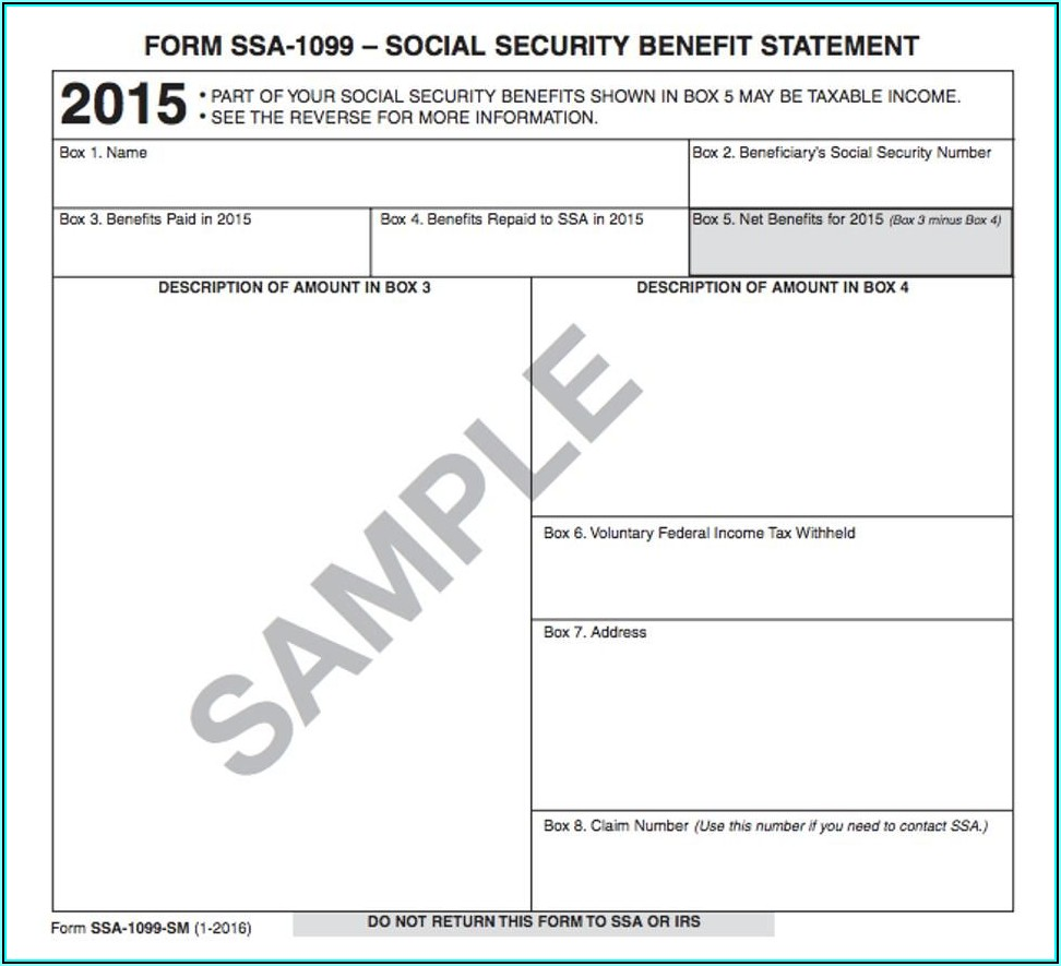 Social Security 1099 Forms