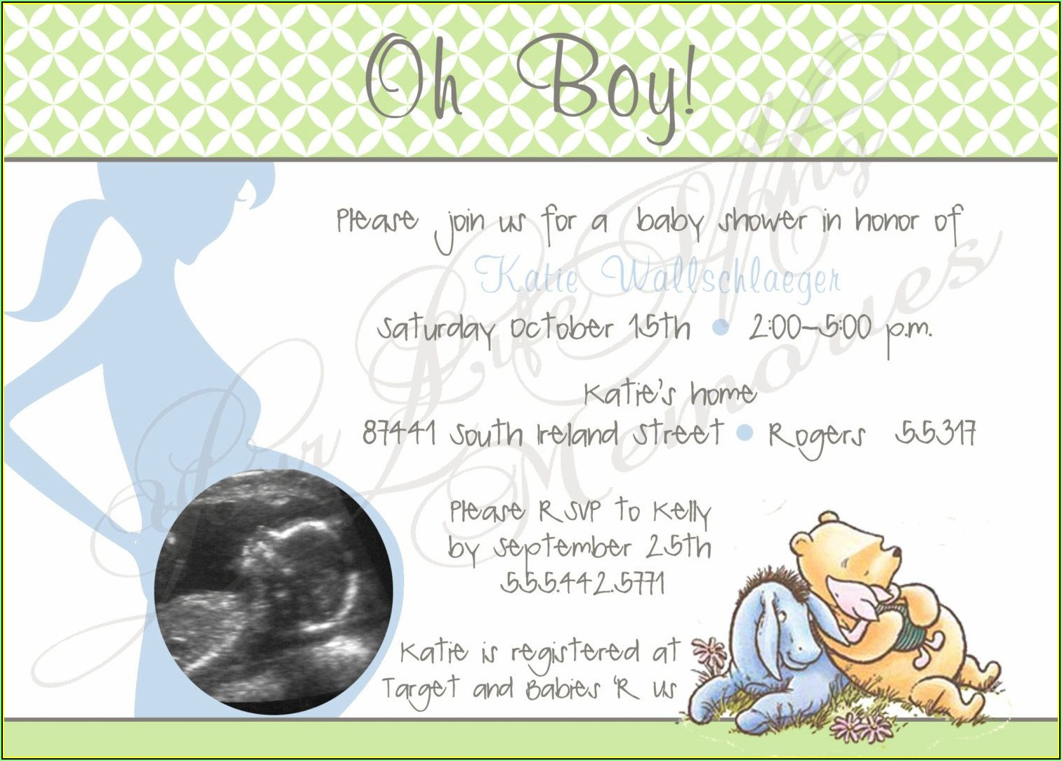 Sonogram Baby Shower Invitation Templates