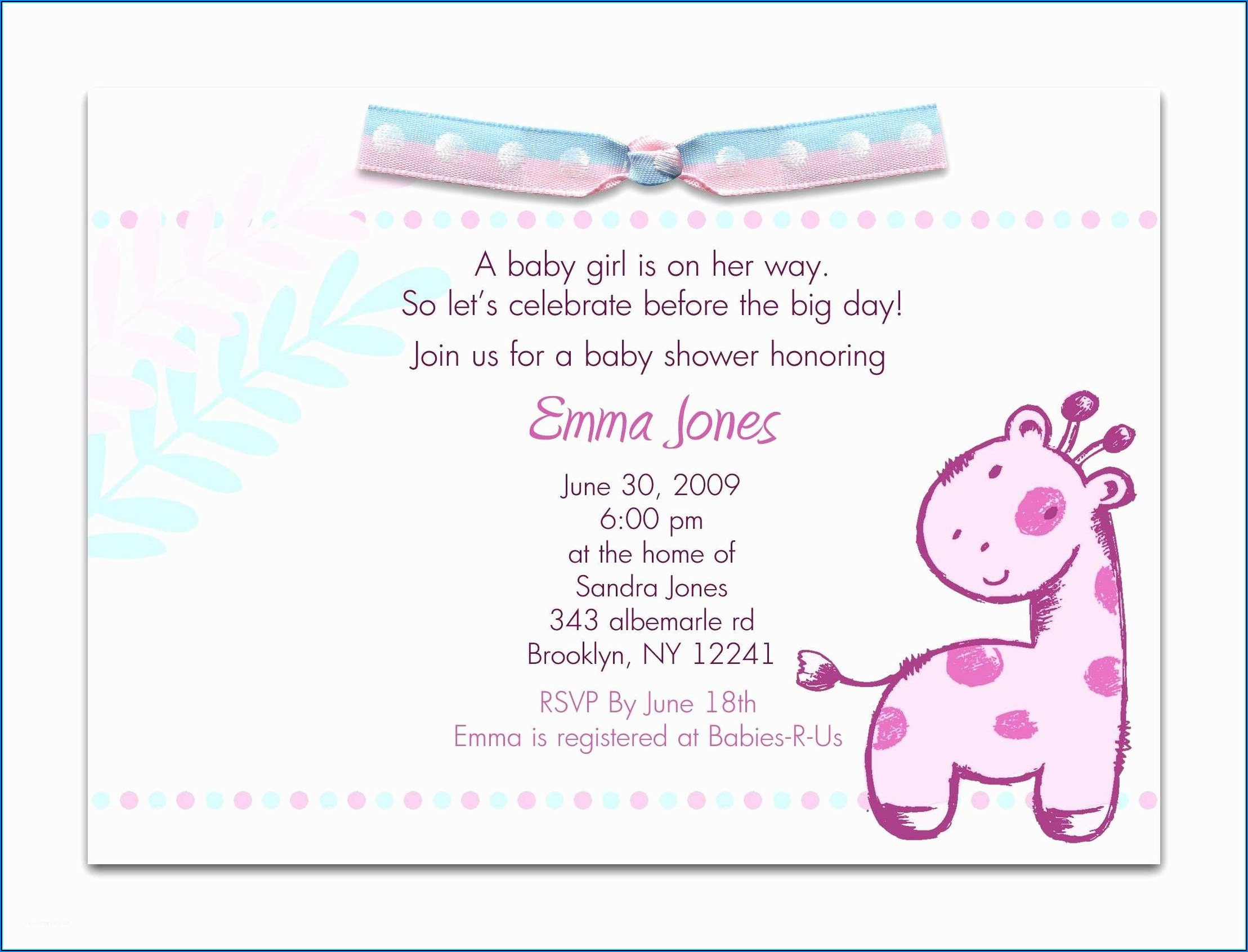 Spanish Baby Shower Invitations Templates