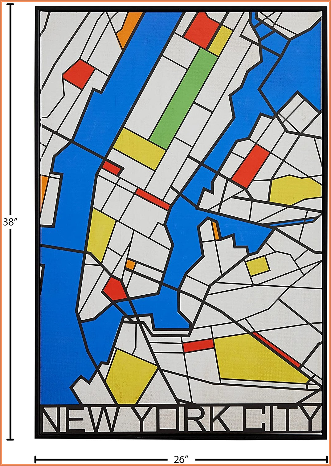 Stained Glass Map Nyc