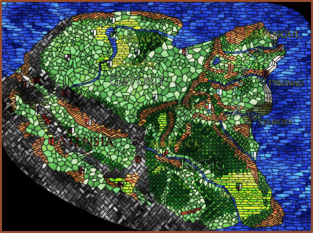 Stained Glass Map