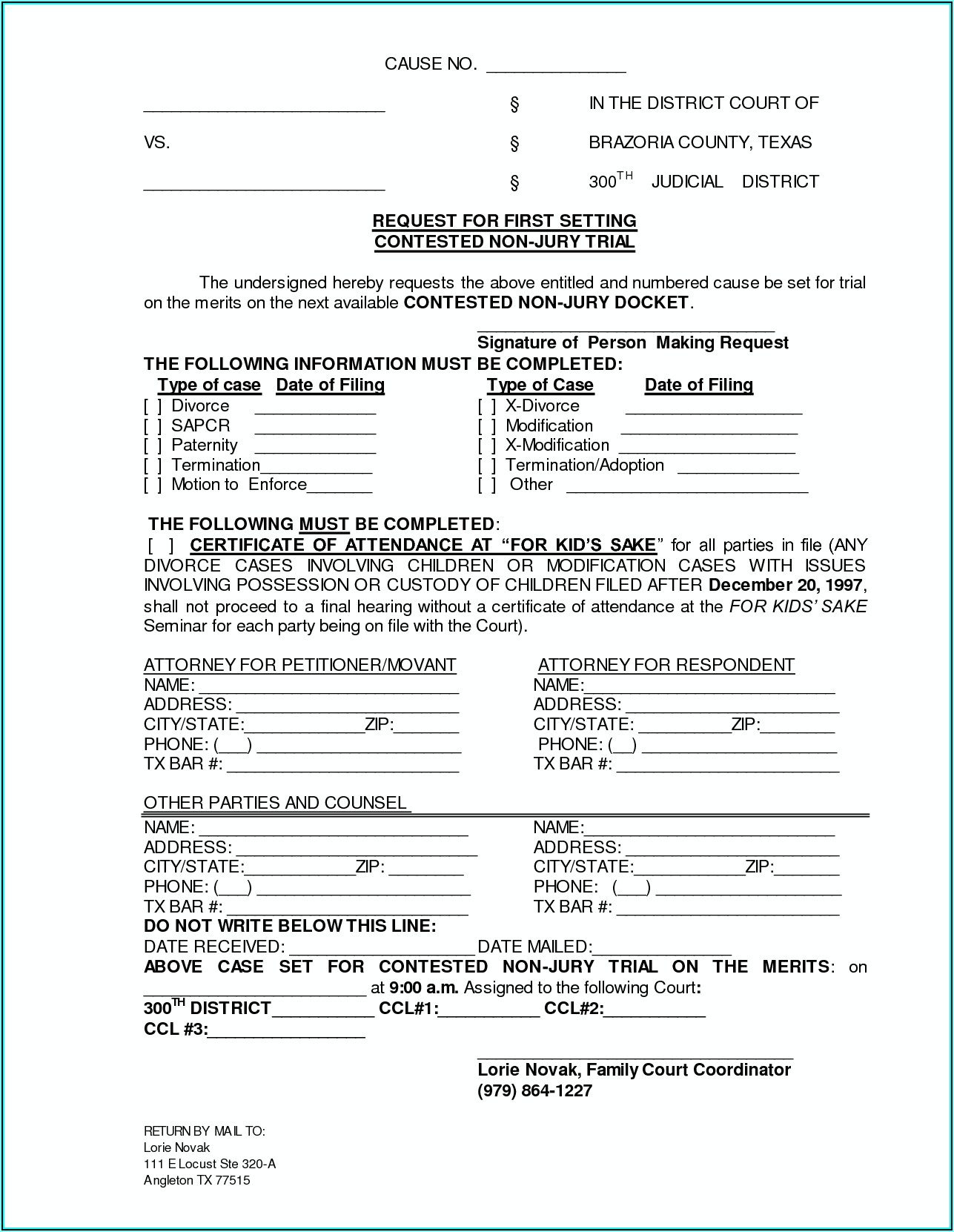State Of Texas Uncontested Divorce Forms