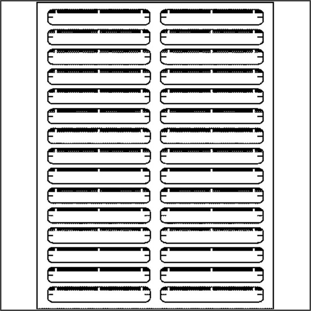 Template For File Folder Labels 30 Per Sheet