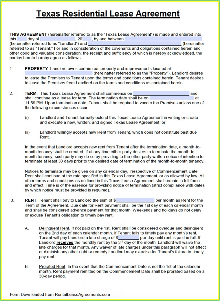 Tenancy Agreement Template Word