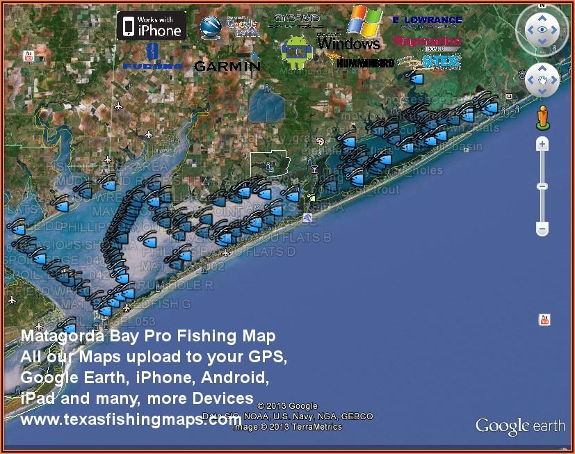 Texas Coastal Fishing Maps