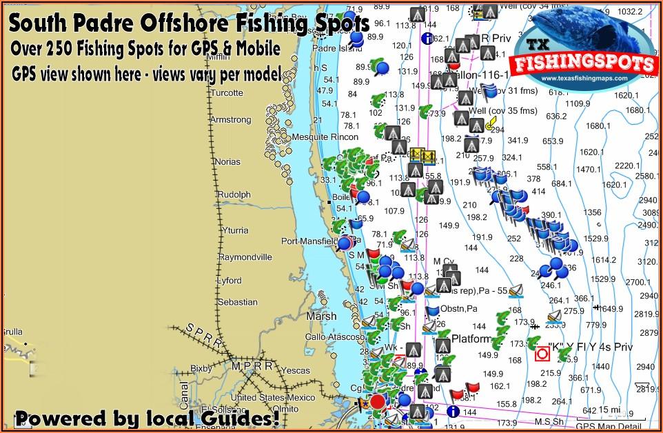Texas Offshore Fishing Maps